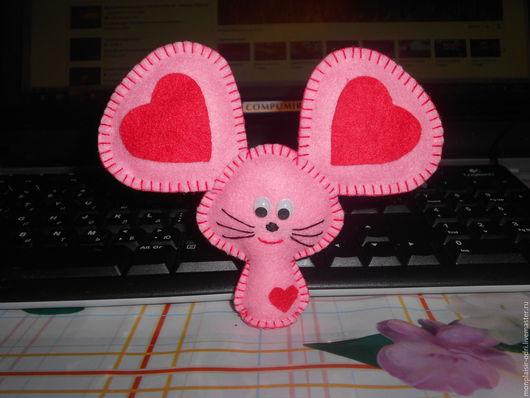 """Подарки для влюбленных ручной работы. Ярмарка Мастеров - ручная работа. Купить Сувенир """"Влюбленная мыша"""". Handmade. Розовый"""