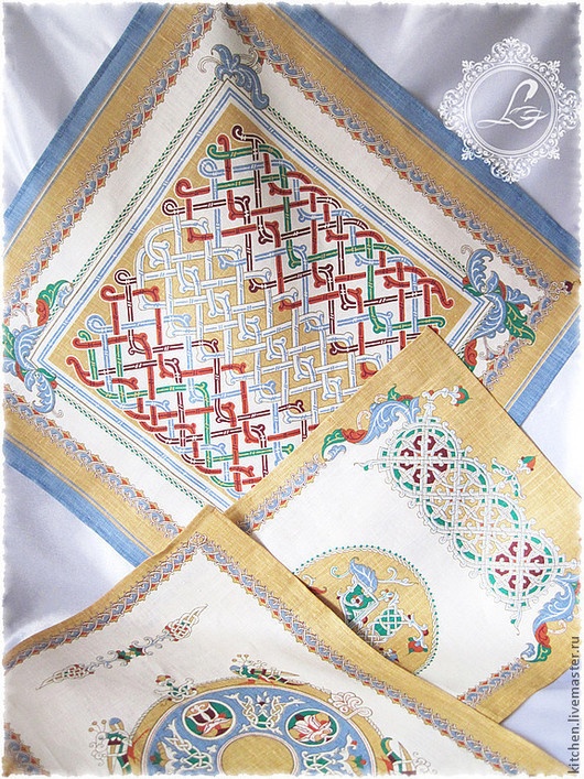 Kitchen handmade. Livemaster - handmade. Buy Linen towels Patterns Russia.Swipe, patterns, eco-friendly packaging, kitchen textiles