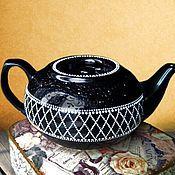 """Посуда ручной работы. Ярмарка Мастеров - ручная работа Чайник  заварочный маленький """"Черный жемчуг"""" Чайник для мужчины. Handmade."""