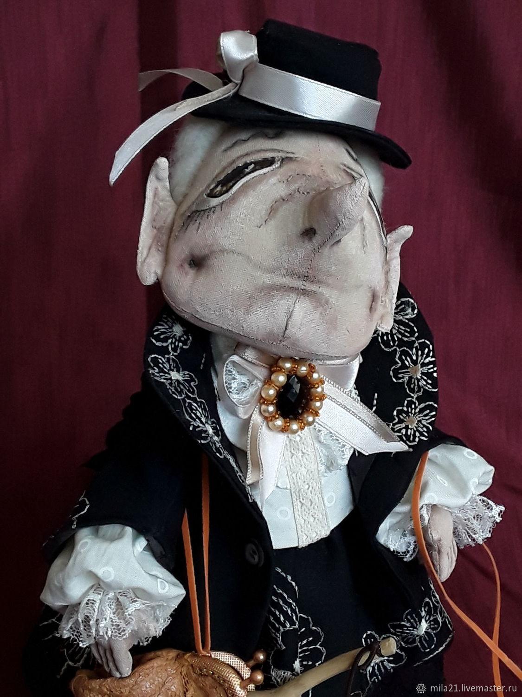 Коллекционные куклы ручной работы. Ярмарка Мастеров - ручная работа. Купить Шапокляк. Handmade. Подарок, купить авторскую куклу