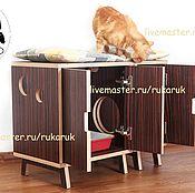 Для домашних животных, ручной работы. Ярмарка Мастеров - ручная работа Кошачий туалет-тумба. Handmade.