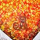 """Шали, палантины ручной работы. Батик платок """"Котовасия"""". Наталья Смагина (Ptichka Nata). Ярмарка Мастеров. Батик платок"""