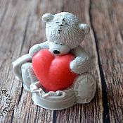 Мыло ручной работы. Ярмарка Мастеров - ручная работа Мыло Мишка Тедди с большим сердцем. Handmade.