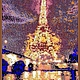 Город ручной работы. Ярмарка Мастеров - ручная работа. Купить Гобелен из бисера PARIS. Handmade. Звезда, золотой, городской пейзаж