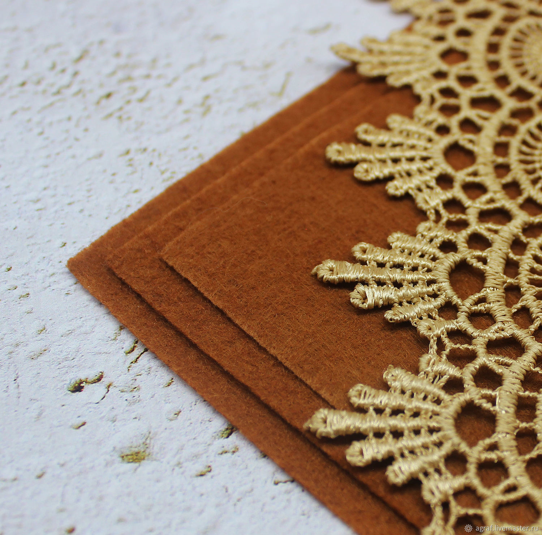 Felt: Base for embroidery Paduk 30h30 cm thickness 1 mm, Felts, Solikamsk,  Фото №1