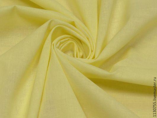 Шитье ручной работы. Ярмарка Мастеров - ручная работа. Купить Ткань   хлопок батист желтый. Handmade. Желтый, батист, ткани