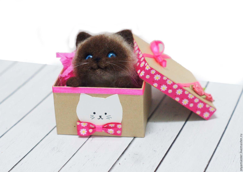 Siamese kitten Loki Gift-felted toy, Felted Toy, Zeya,  Фото №1