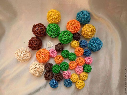 Другие виды рукоделия ручной работы. Ярмарка Мастеров - ручная работа. Купить Ротанг шарики 3 , 5 и 6,5 см. Handmade.