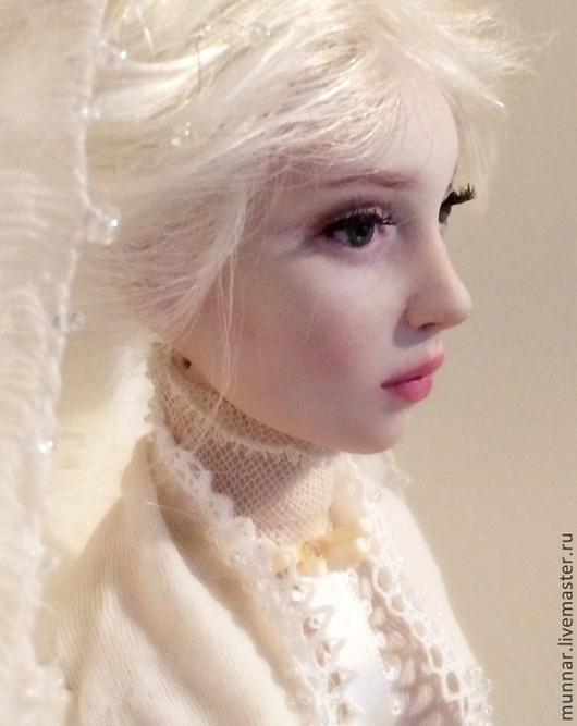 Коллекционные куклы ручной работы. Ярмарка Мастеров - ручная работа. Купить Снежная. Handmade. Белый, кукла интерьерная, снежная королева