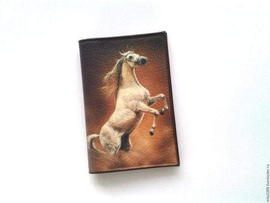 Обложки ручной работы. Ярмарка Мастеров - ручная работа. Купить Обложка на паспорт Лошадь. Обложка для паспорта. Подарок мужчине.. Handmade.