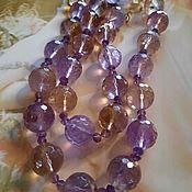 Работы для детей, handmade. Livemaster - original item Beads evening of natural ametrine stones. Handmade.