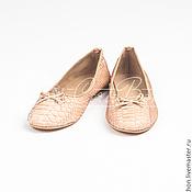 Обувь ручной работы. Ярмарка Мастеров - ручная работа Скидка! Балетки из кожи питона. Handmade.