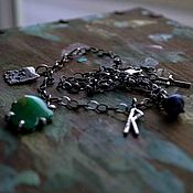 Украшения handmade. Livemaster - original item Necklace: Necklace silver from natural stones. Slavic necklace with runes. Handmade.