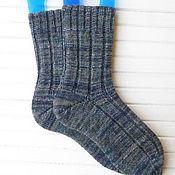 Аксессуары ручной работы. Ярмарка Мастеров - ручная работа Вязаные мужские носки Dark grey. Handmade.