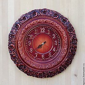 Для дома и интерьера handmade. Livemaster - original item Clock for home wall Curls. Handmade.