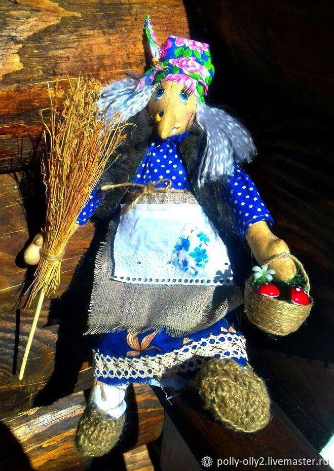 Баба-Яга. Интерьерная кукла. Оберег, Мягкие игрушки, Калуга,  Фото №1