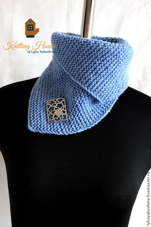 Воротник-шарф для вязания спицами 682
