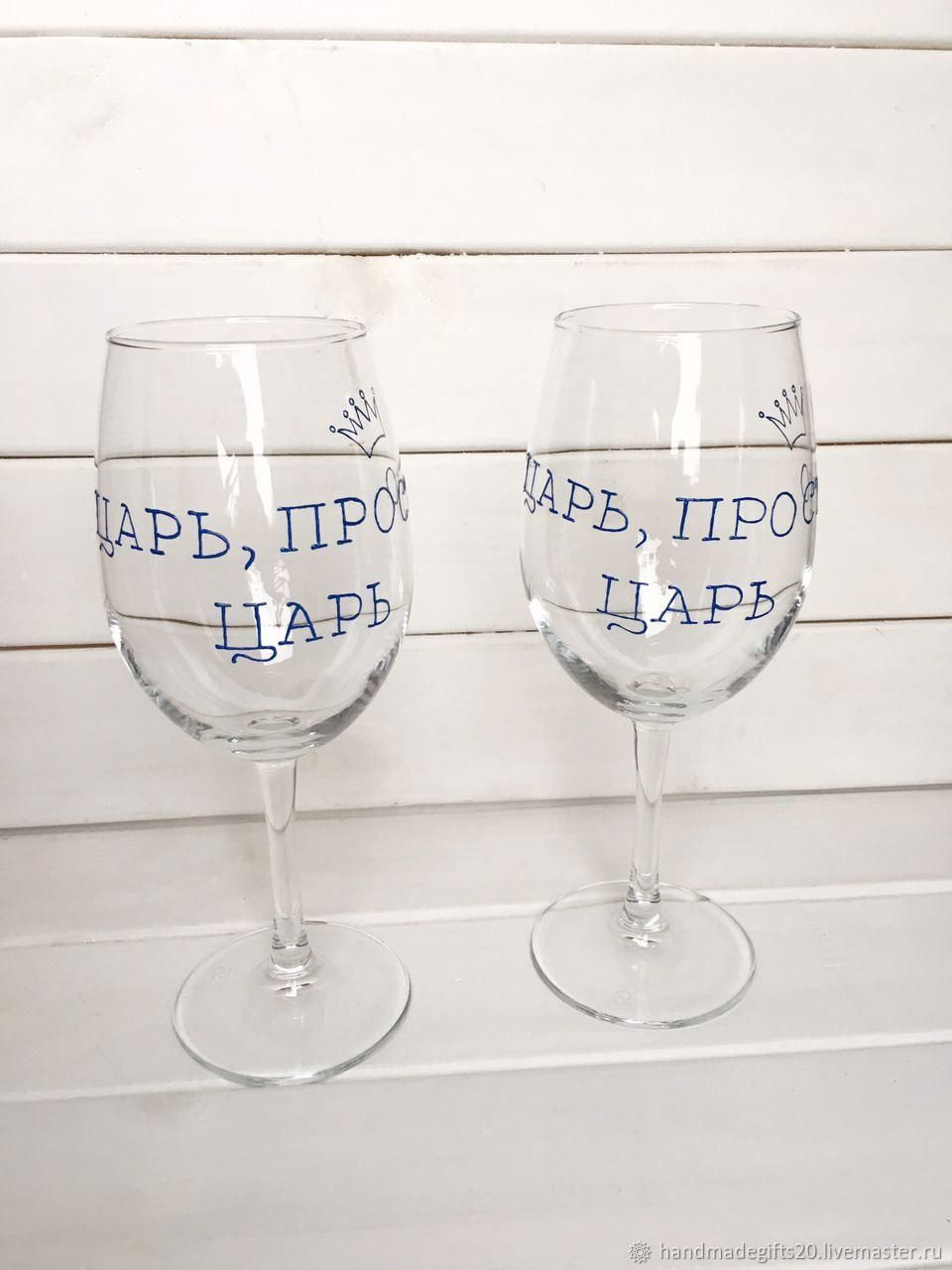Wine glasses with the inscription, Wine Glasses, Moscow,  Фото №1