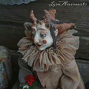 Будуарная кукла ручной работы. Ярмарка Мастеров - ручная работа Маленький дзанни по имени Тень. Handmade.