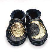 Обувь ручной работы handmade. Livemaster - original item Black Baby Shoes,Baby Moccasins Leather Baby Shoes, Ebooba. Handmade.