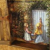 """Для дома и интерьера ручной работы. Ярмарка Мастеров - ручная работа Ключница """"А мы в гости!"""". Handmade."""