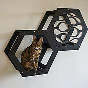 Зоотовары handmade. Livemaster - original item Two hexagon houses for cats