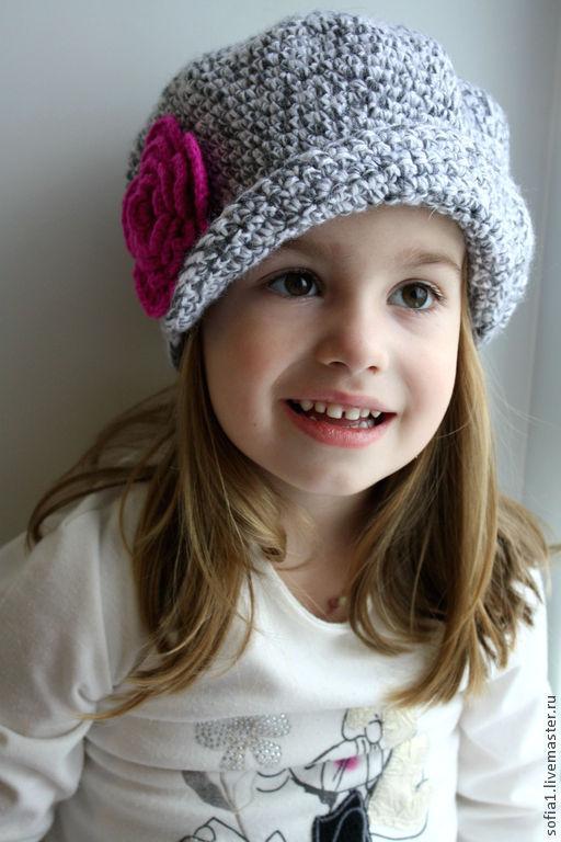 Шапки и шарфы ручной работы. Ярмарка Мастеров - ручная работа. Купить Детская шапочка. Handmade. Серый, детская шляпка