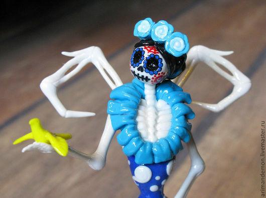 """Статуэтки ручной работы. Ярмарка Мастеров - ручная работа. Купить Статуэтка  """"Muertos Frida"""". Handmade. Фрида Кало, мексиканские мотивы"""
