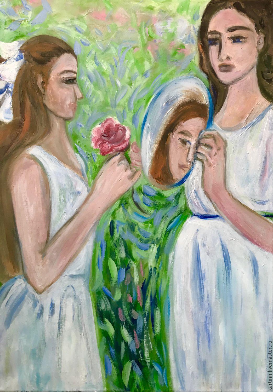 Девушки с зеркалом, Картины, Ростов-на-Дону,  Фото №1