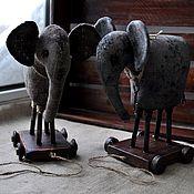 Мягкие игрушки ручной работы. Ярмарка Мастеров - ручная работа Слон в подарок. Handmade.