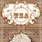 """Материалы для творчества ручной работы. Ярмарка Мастеров - ручная работа Декупажная карта """"Чайные этикетки"""", формат А4. Handmade."""