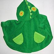 Одежда ручной работы. Ярмарка Мастеров - ручная работа Пончо детское DiNO флис 1-2 года. Handmade.