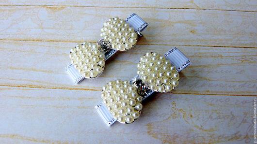 Детская бижутерия ручной работы. Ярмарка Мастеров - ручная работа. Купить Заколки для волос Бантики. Handmade. Комбинированный, заколка для волос