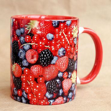 """Посуда ручной работы. Ярмарка Мастеров - ручная работа Чашка """"Садовые ягоды"""". Handmade."""