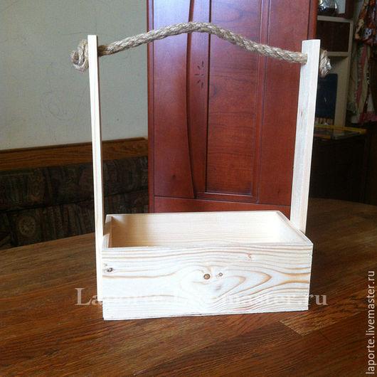 Подарочная упаковка ручной работы. Ярмарка Мастеров - ручная работа. Купить Ящик для цветов деревянный #11, заготовка. Handmade.