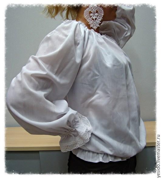 """Блузки ручной работы. Ярмарка Мастеров - ручная работа. Купить Блузка """"Нежность"""". Handmade. Белый, бохо-стиль"""