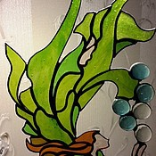 Для дома и интерьера ручной работы. Ярмарка Мастеров - ручная работа Витраж - русалка. Handmade.