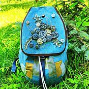 handmade. Livemaster - original item Backpack denim Autumn. Handmade.