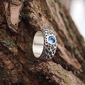 Украшения handmade. Livemaster - original item Silver ring with sapphire. Handmade.