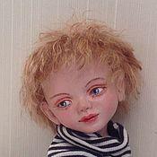 Куклы и игрушки ручной работы. Ярмарка Мастеров - ручная работа Воробышек ( кукла мальчик с собачкой). Handmade.