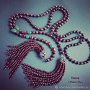 Украшения handmade. Livemaster - original item Necklace with tassel, lariat of pomegranate GARNET Handmade Author`s w. Handmade.