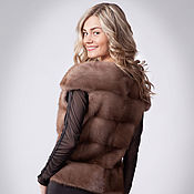 Одежда handmade. Livemaster - original item Vest of mink Pastel. Mink vest. Fur vest.. Handmade.