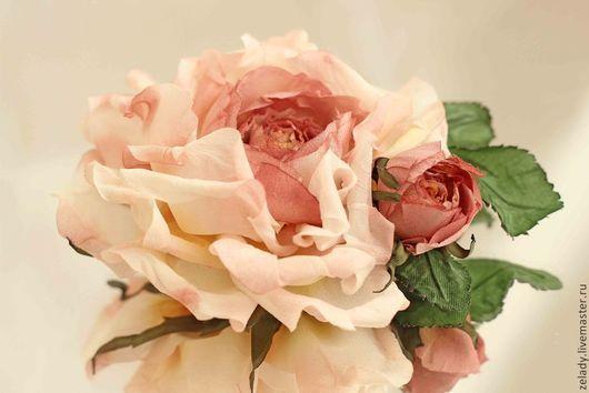 """Цветы ручной работы. Ярмарка Мастеров - ручная работа. Купить Роза из шелка  """"ISABELLA"""" в честь испанской королевы. Handmade."""