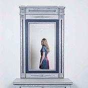 Для дома и интерьера handmade. Livemaster - original item Mirror wall.  Designer furniture, handmade furniture. Оak carved frame. Handmade.