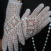 Аксессуары handmade. Livemaster - original item Gloves fishnet feather Elegance.. Handmade.