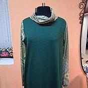 Одежда ручной работы. Ярмарка Мастеров - ручная работа Платье зеленое прямое в пол. Handmade.