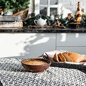handmade. Livemaster - original item Wooden deep plate made of Siberian cedar 170 mm. T128. Handmade.