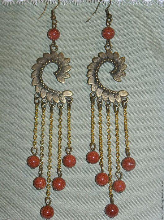 длинные серьги, восточные серьги, серьги на цепочках