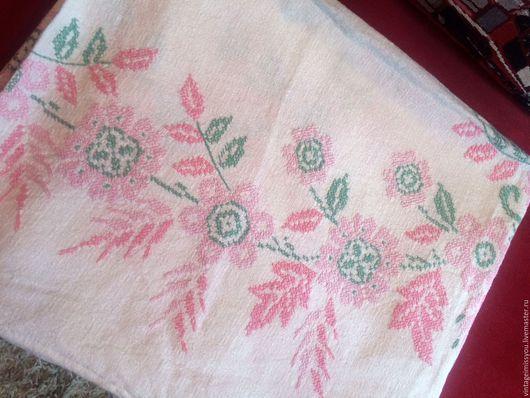 Винтажные предметы интерьера. Ярмарка Мастеров - ручная работа. Купить Огромная винтажная скатерть, ручная вышивка крестиком. Handmade. Разноцветный