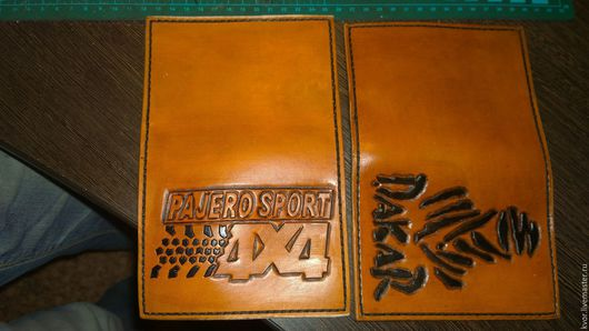 """Обложки ручной работы. Ярмарка Мастеров - ручная работа. Купить Обложки """"Dakar"""" и """"4x4"""". Handmade. Рыжий, обложка из кожи, феникс"""
